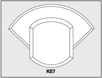 KE7 - Architectural Foam Shape - Keystone