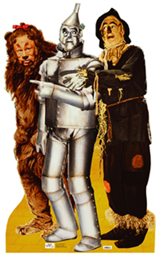 Lion, Tin Man, and Scarecrow - The Wizard of Oz Cardboard Cutout Standup Prop