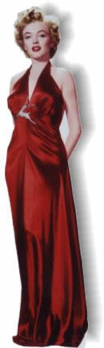 Marilyn Monroe - Red Gown Cardboard Cutout Standup