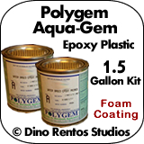 Polygem Aquagem Epoxy Plastic Foam Coating - 1.5 Gallon Kit