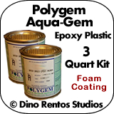 Polygem Aquagem Epoxy Plastic Foam Coating - 3 Gallon Kit