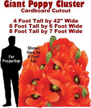 Poppy Cluster Cardboard Cutout Standup Prop