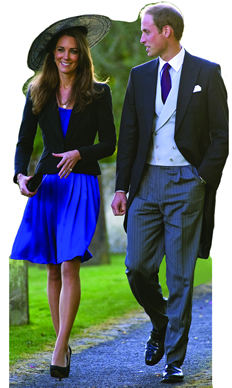 Kate and William Walking Royal Cardboard Cutout Standup Prop