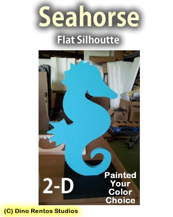 2D Seahorse Silhoutte Foam Prop