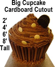 Chocolate Cupcake Cardboard Cutout Standup Prop