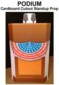 Podium Cardboard Cutout Standup Prop