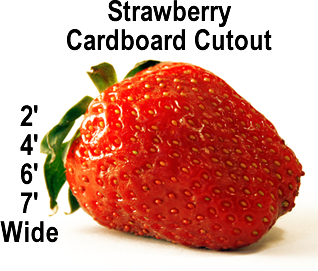 Strawberry Cardboard Cutout Standup Prop