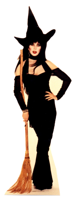 Elvira Broom - Halloween Cardboard Cutout Standup Prop