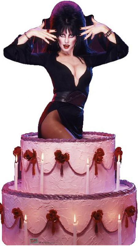 Elvira Cake - Halloween Cardboard Cutout Standup Prop