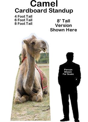 Camel Cardboard Cutout Standup Prop