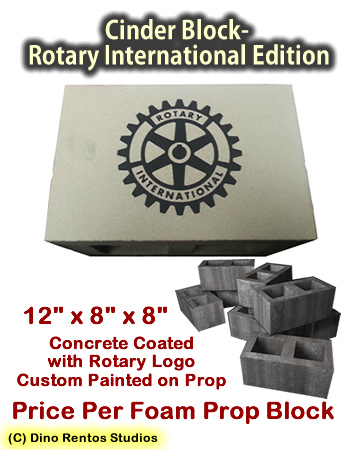 Cinder Block Rotary International Edition Foam Prop
