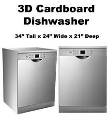 3D Cardboard Dishwasher