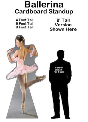 Ballerina Cardboard Cutout Standup Prop