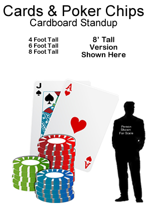 Cards & Poker Chips Cardboard Cutout Standup Prop