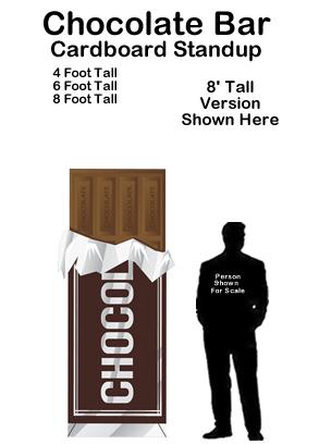 Chocolate Bar Cardboard Cutout Standup Prop
