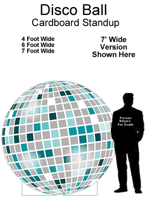 Disco Ball Cardboard Cutout Standup Prop