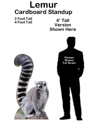 Lemur Cardboard Cutout Standup Prop