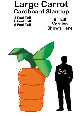 Large Carrot Cardboard Cutout Standup Prop