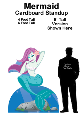 Mermaid Cardboard Cutout Standup Prop