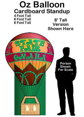 Oz Balloon - Wizard of Oz Cardboard Cutout Standup Prop