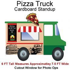 Pizza Truck Cardboard Cutout Standup Prop