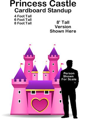 Princess Castle Cardboard Cutout Standup Prop