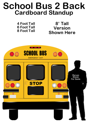 School Bus 2 Back Cardboard Cutout Standup Prop