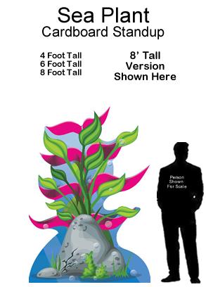 Sea Plant Cardboard Cutout Standup Prop
