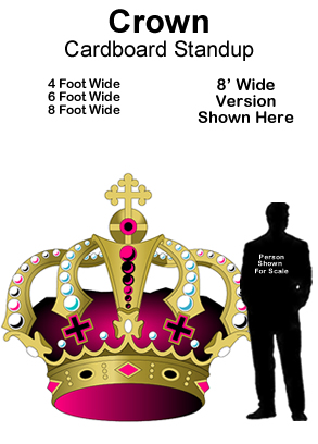 Crown Cardboard Cutout Standup Prop