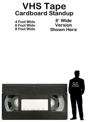 VHS Tape Cardboard Cutout Standup Prop