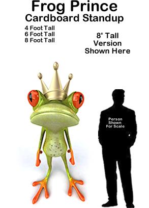 Frog Prince Cardboard Cutout Standup Prop