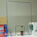 "Retail Counter Shield & Sneeze Guard 24"" wide x 32"" Tall - Corona COVID19 Virus"