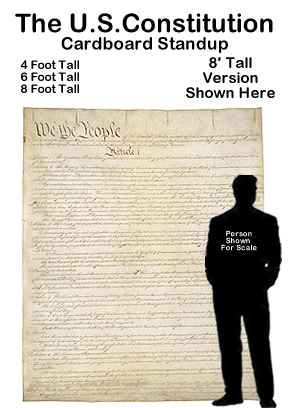 United States Constitution Cardboard Cutout Standup Prop