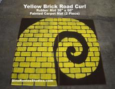 "Yellow Brick Road Rubber Mat 72"" x 60"" - Curl Right"