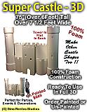 Giant Super Castle 3D Foam Prop - 6 Foot by 7 Foot