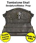 Tombstone Skull Sculpture Statue Prop