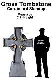 Tombstone Cross Cardboard Cutout Standup Prop