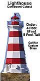 Lighthouse Cardboard Cutout Standup Prop