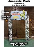 Jurassic Park Entrance Theme Kit - Cardboard Prop