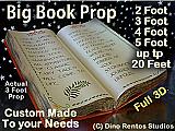 Giant/Big Foam Book Prop - Custom Made Any Size