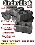 Cinder Block Foam Prop