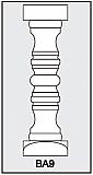 BA9 - Architectural Foam Shape - Baluster