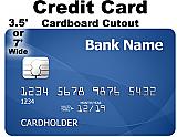 Credit Card Cardboard Cutout Standup Prop