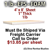 EPS Foam Sheet - 1 lb Density - 48x96x1