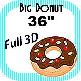 Big/Giant Donut Foam Prop 36""