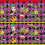 "Cardboard Roll - Mardi Gras - 48"" x 25'"
