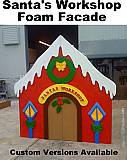 8 Foot Foam Santa's Workshop Display/Prop