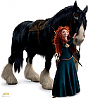 Merida and Angus - BRAVE Cardboard Cutout Standup Prop