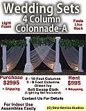 Custom Roman Colonnade - 4 Column Foam Set