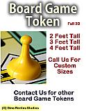 Board Game Token Foam Prop